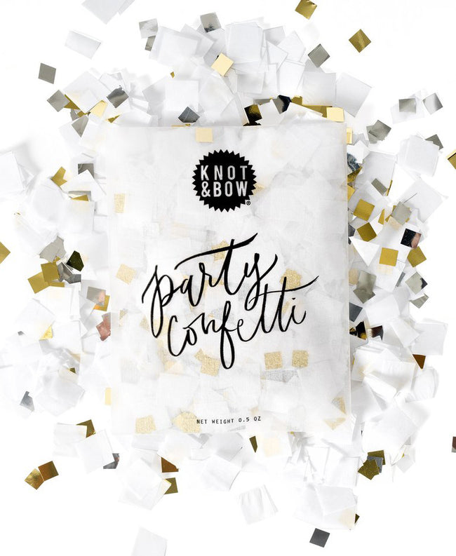 White Metallic Confetti