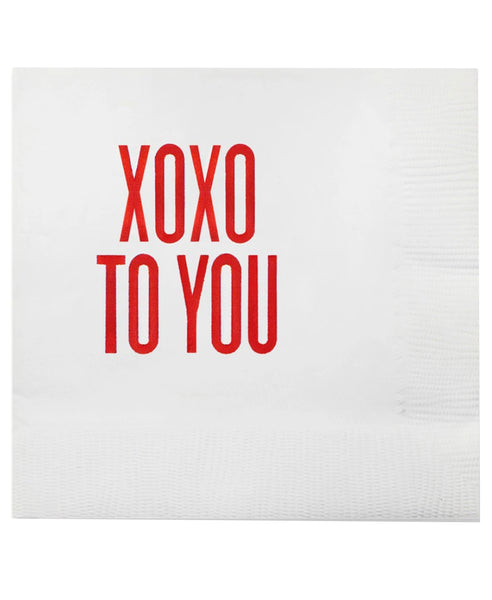 Xoxo To You Cocktail Napkins