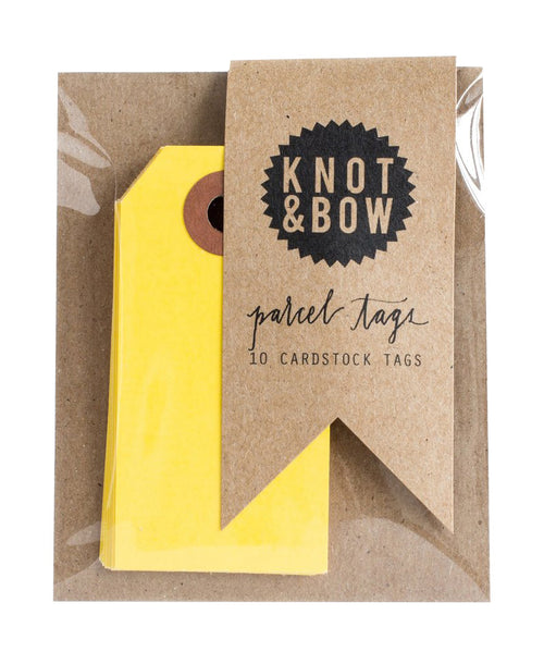 Parcel Tags - Yellow