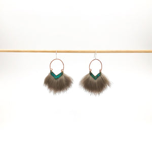 blue green nature inspired earring