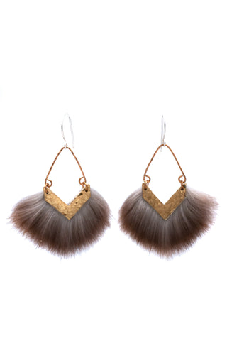 Hammered brass earrings for everyday wear