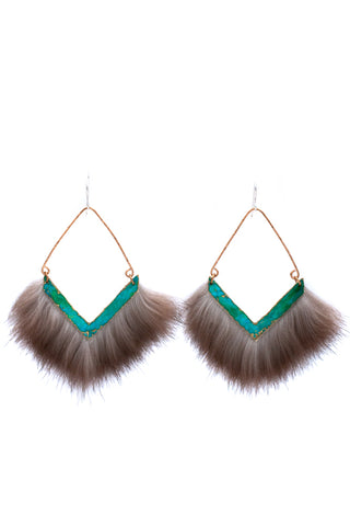 the powerful and bold patina earrings