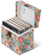 Tunes Tote Vinyl record storage Paisley parts carrying case