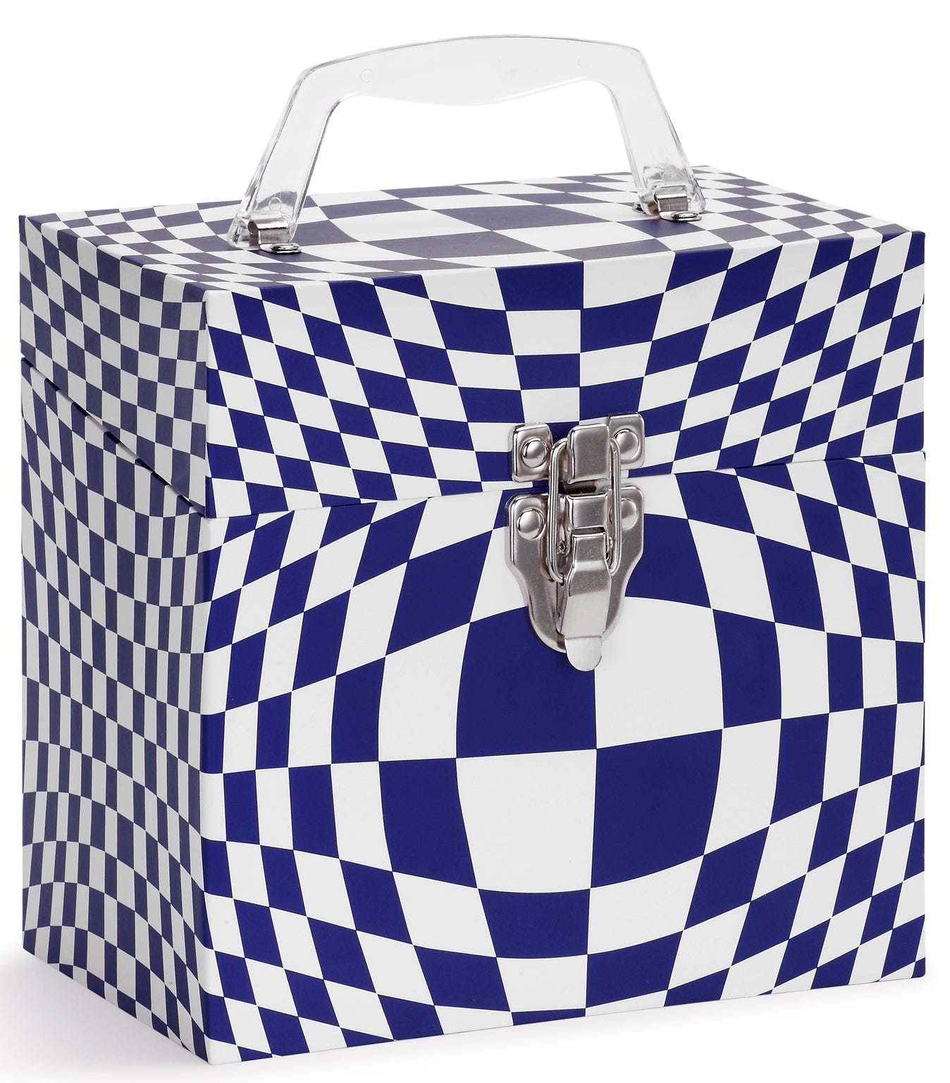 Illusion Blue Vinyl Record Storage Box And Carrying Case
