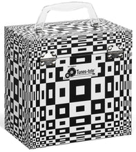 Round Illusion Black Vinyl Record Storage Box AndCarrying Case for 45 RPM Records