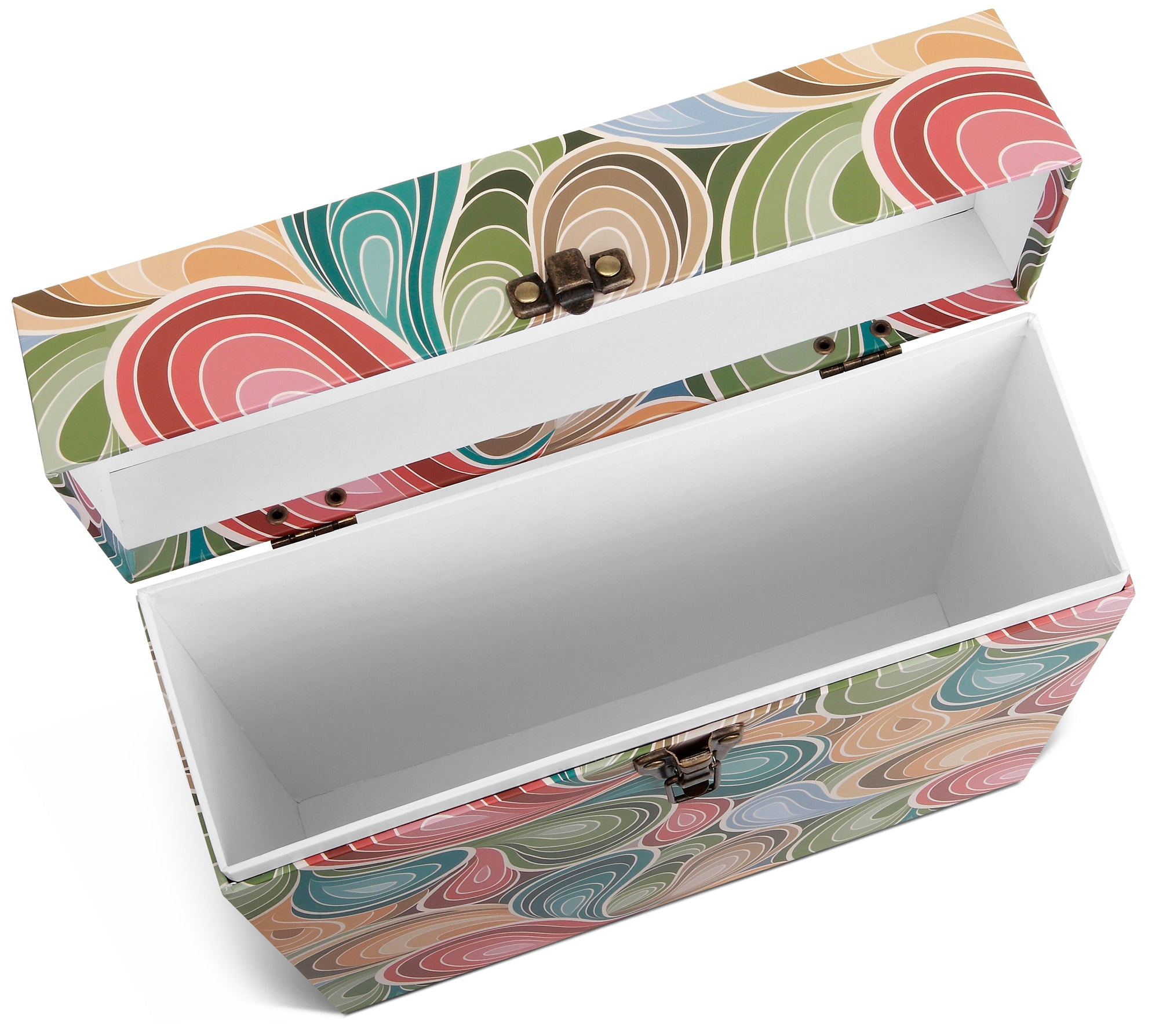 Paisley Parts Lp Vinyl Record Storage Box And Carrying