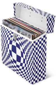 Illusion Blue LP Vinyl Record Storage Box And Carrying Case for LPs Albums