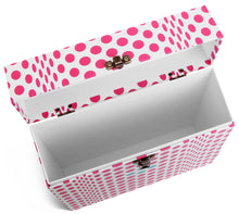 Folding Dots LP Vinyl Record Storage Box And Carrying Case for LPs Albums