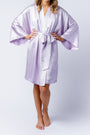 Serena Kimono in orchid, front belted