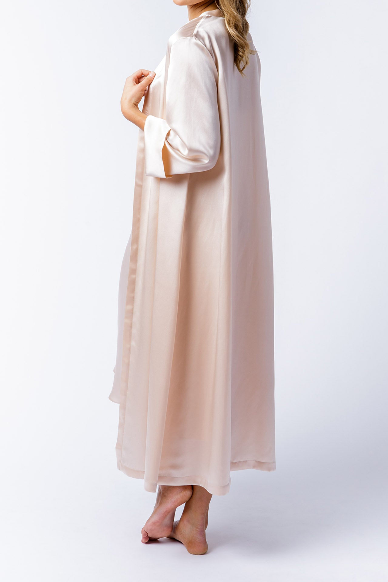 Alice Robe in blush, back