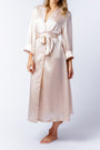 Alice Robe in blush, belted
