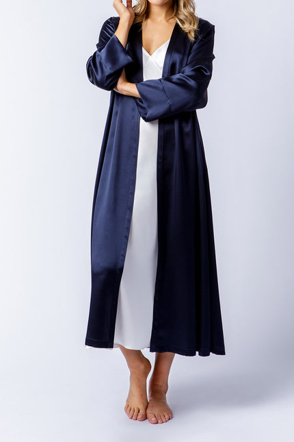 Alice Robe in dark navy, front