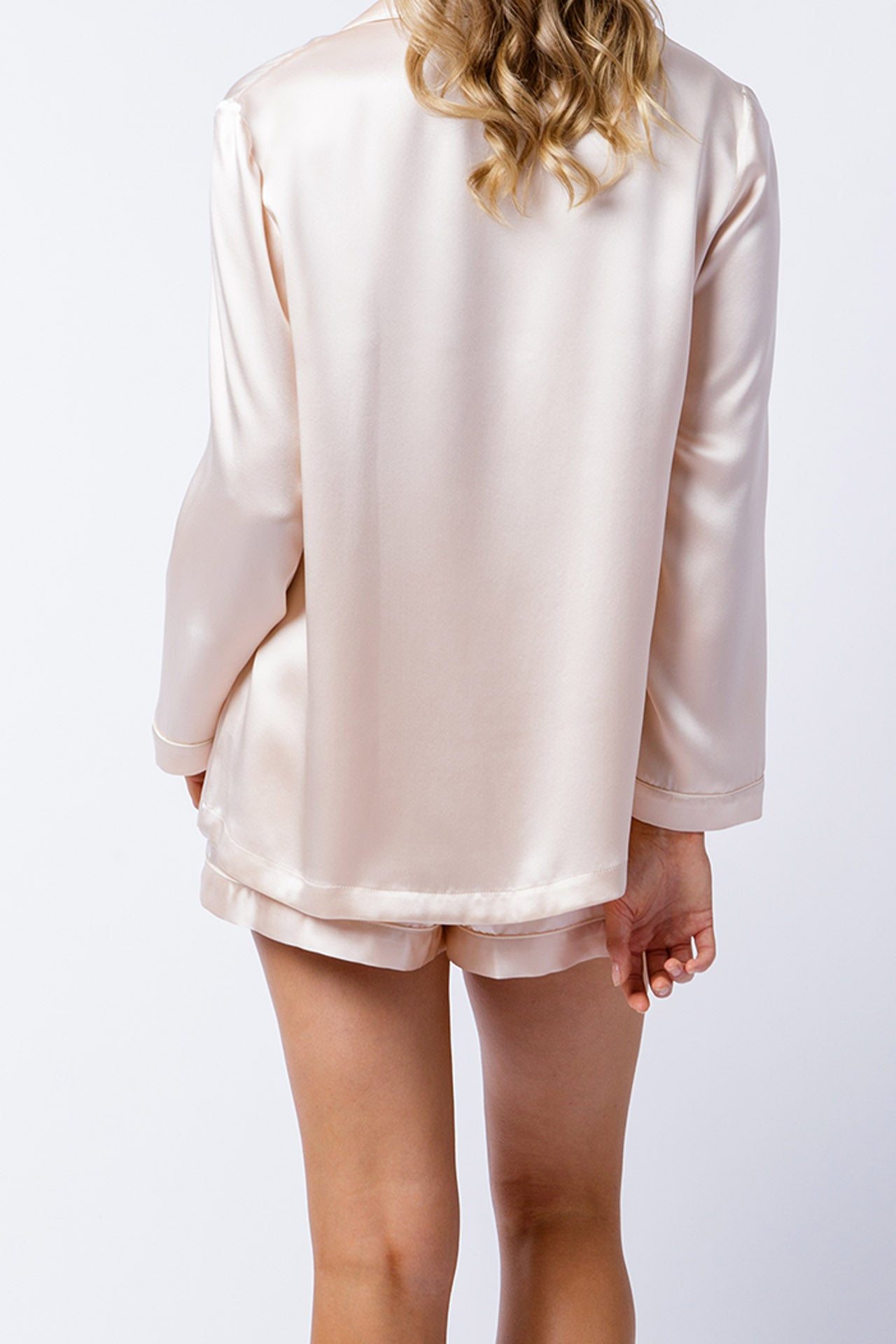 Ann shirt in blush, back