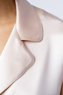 Ann shirt in blush, lapel close up