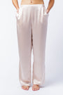 Bella pants in blush, front
