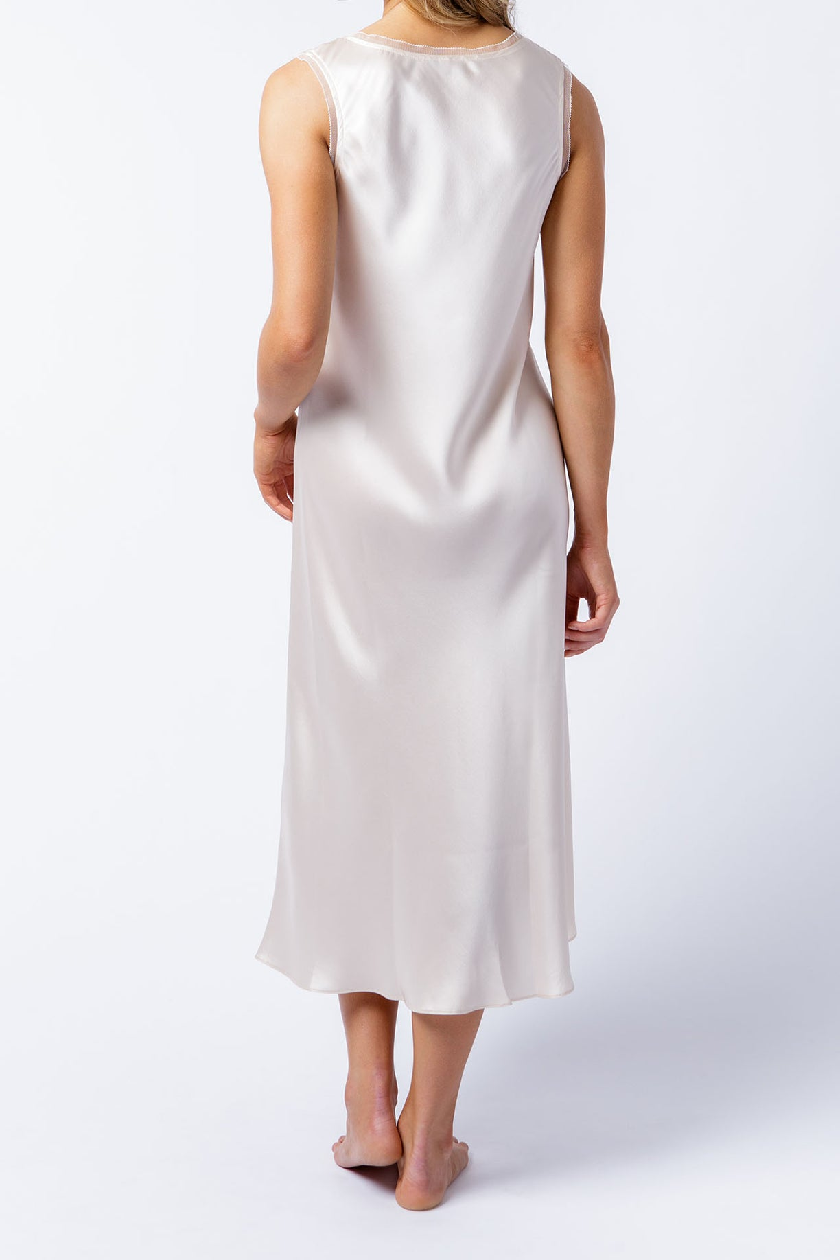 Cate dress in alabaster, back