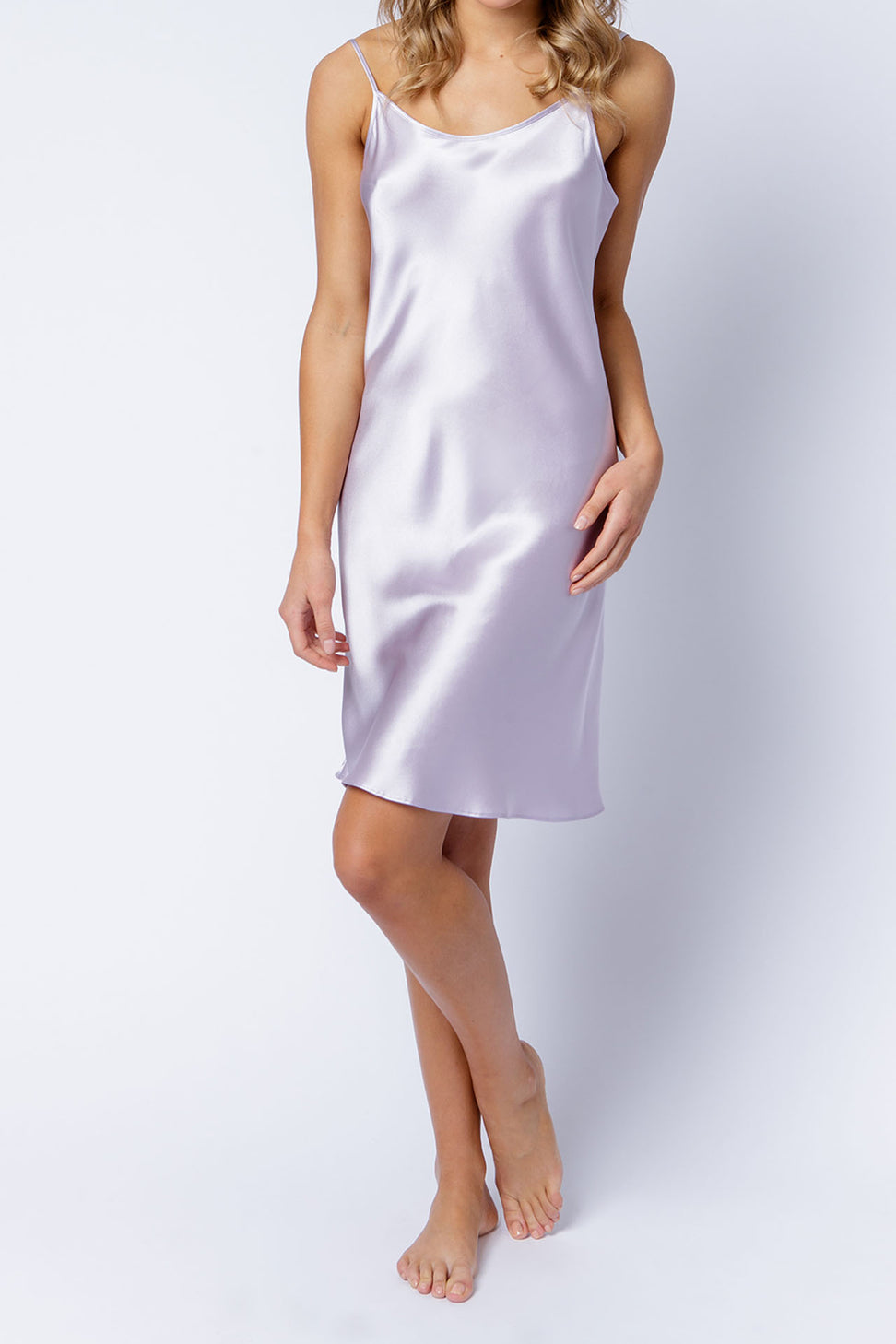 Estelle slip dress in orchid, front alt