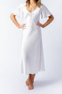Liz dress in alabaster, front