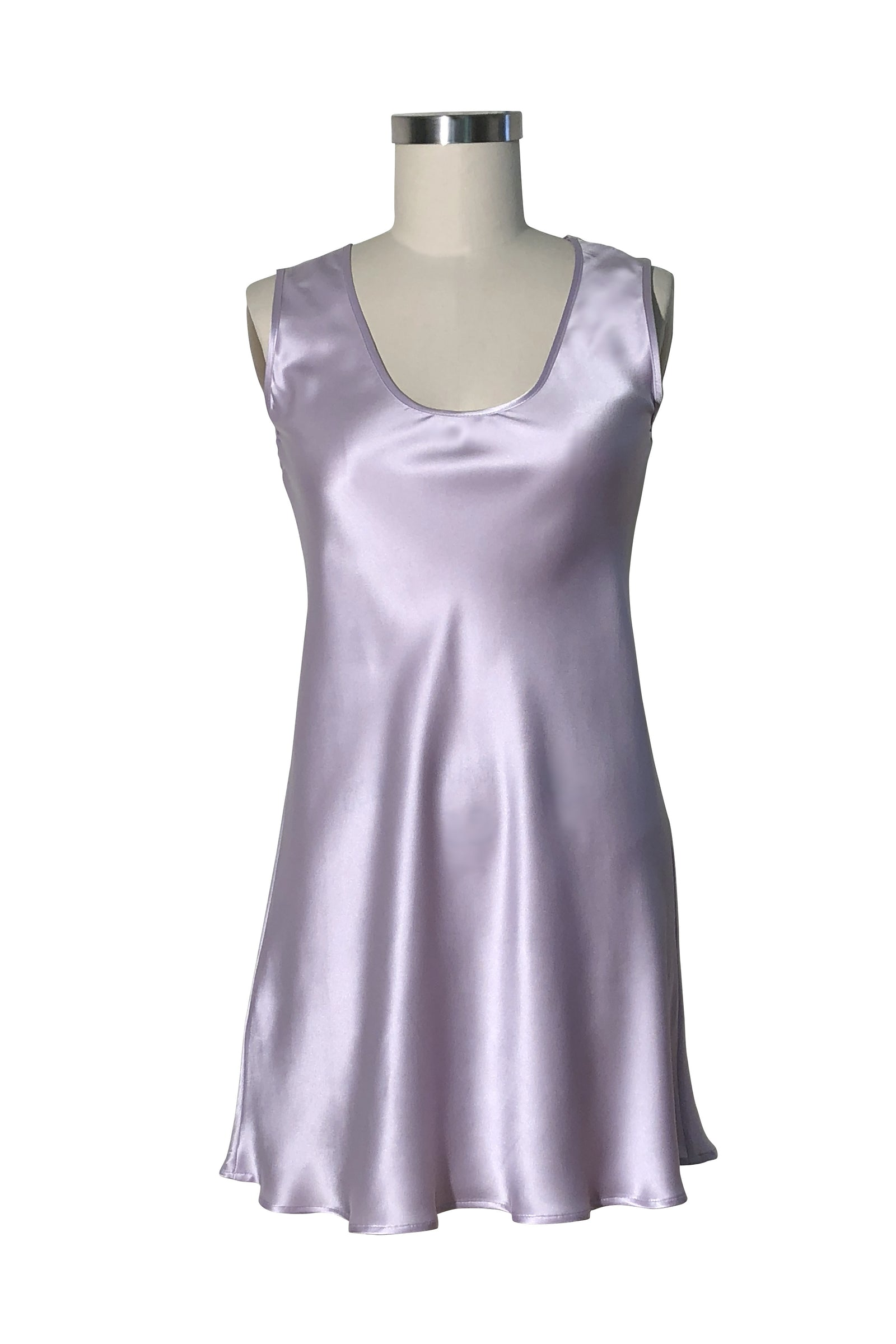 Orchid silk satin Millie front view