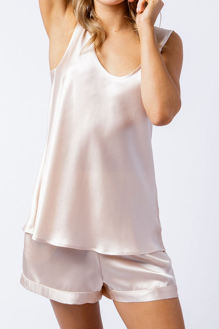 Rosie singlet in blush, front