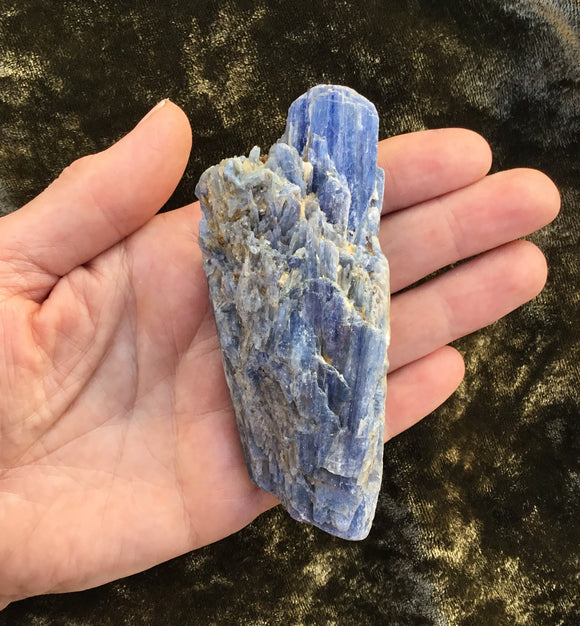 Palm Sized Blue Kyanite Piece - Quartz Crystal Points