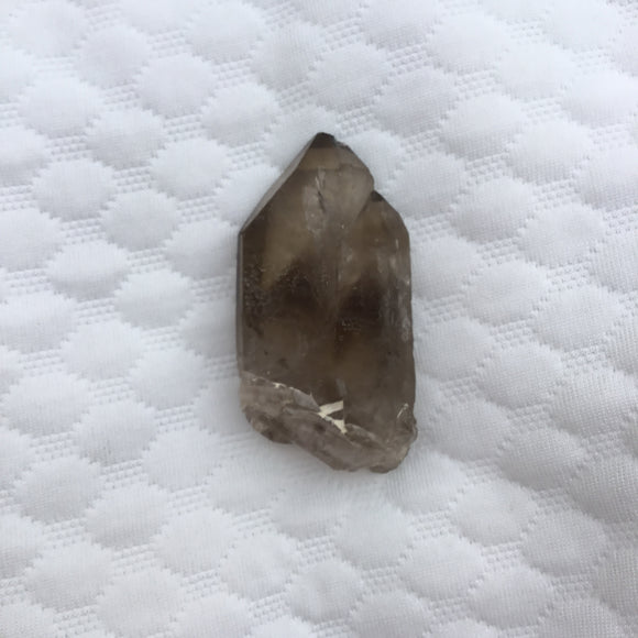 Tabular Tantric Twin Smokey Quartz Point - Quartz Crystal Points