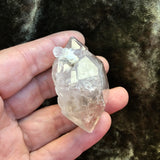 Elestial Double Terminated Gateway Tibetan Quartz Point With Barnicle - Quartz Crystal Points