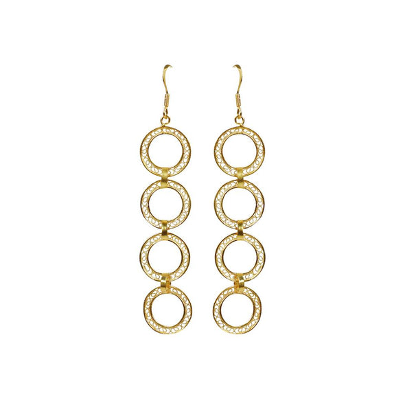 Aura Stacked Circles Earrings - Casapuri