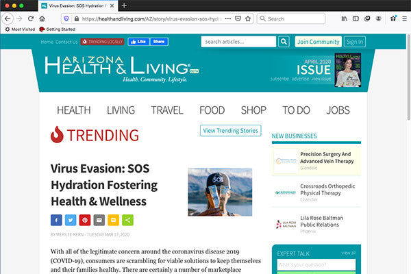 Virus Evasion: SOS Hydration Fostering Health & Wellness