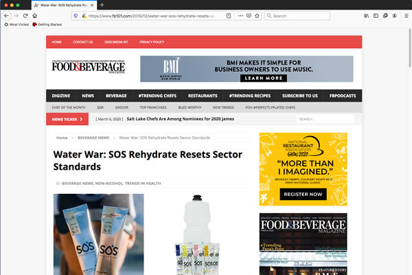 Water War: SOS Rehydrate Resets Sector Standards