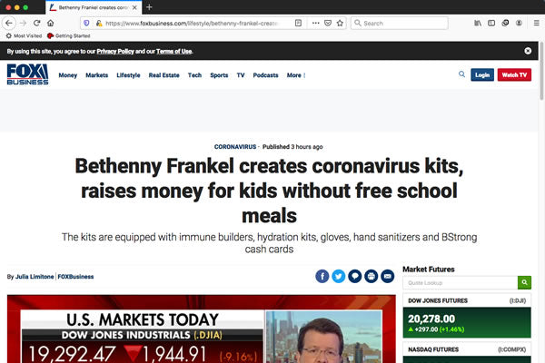 Bethenny Frankel creates coronavirus kits, raises money for kids without free school meals