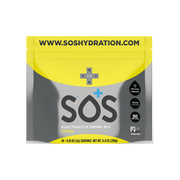 SOS Electrolyte Powder 50 Servings in a compostable pouch