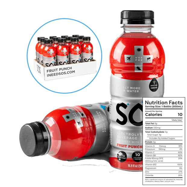 SOS Hydration Electrolyte and Vitamin Drink 500ml
