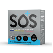SOS Electrolyte Powder Sachets for Hydration 20 Stick Servings