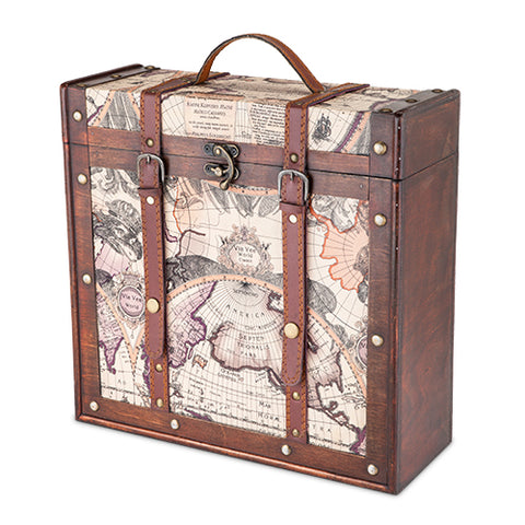 Chateau™ 3 Bottle Old World Wooden Wine Box by Twine