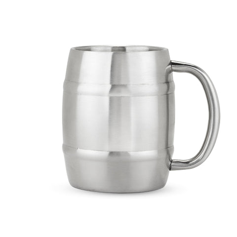Tankard Stainless Steel Beer Mug by True