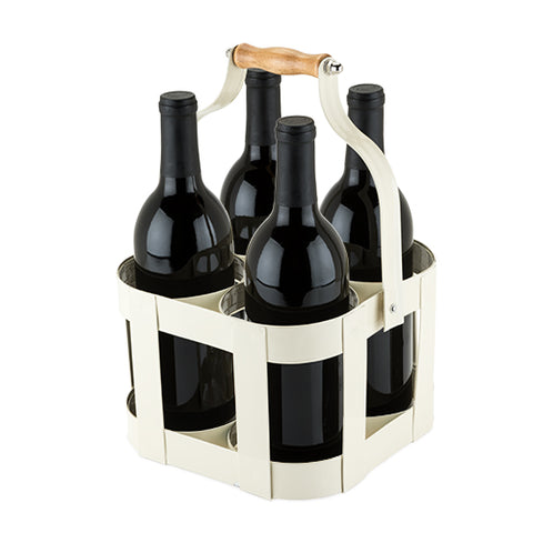 Rustic Farmhouse™: Vintage 4 Bottle Carrier by Twine
