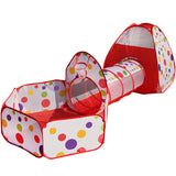 3 In 1 Kids Tent Pipeline Crawling Play House Play Yard
