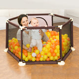 Baby Playpen Portable Plastic Fencing For Children Folding Safety Fence