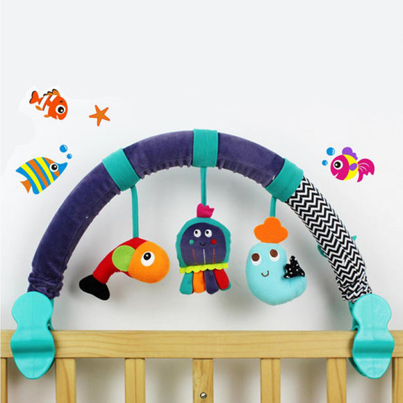 Musical Crib Mobile Bed Baby Rattle Toys for 0-12 Months Newborn