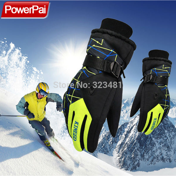 Winter Warm Snowboard Ski Gloves men women mountain Skiing snowmobile waterproof snow motorcycle Gloves Windproof guanti moto