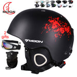 MOON Skateboard Ski Snowboard Helmet Integrally-molded Ultralight Breathable Ski Helmet CE Certification