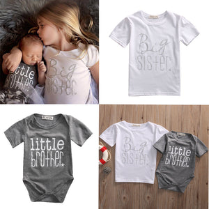 Big Sister Little Brother Matching Tee Shirt and Onesie