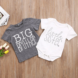 Big Brother Little Sister Matching Tee Shirt and Onesie