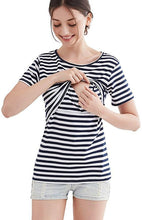 Stripes Maternity Top, Perfect for Breastfeeding