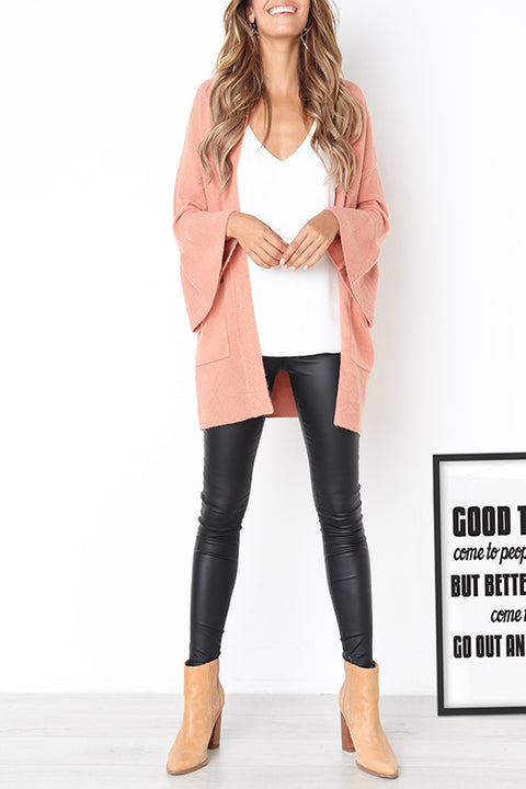 Venidress  Casual Trumpet Sleeves Cardigan