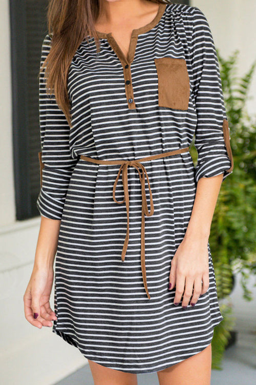 Venidress Neat As a Stripe Casual Mini Dress