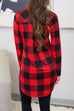 Venidress V Neck Long Sleeves Plaid Shirts
