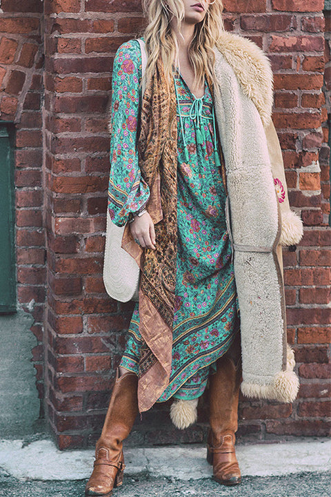 Venidress Bohemian Floral Printed Maxi Dress