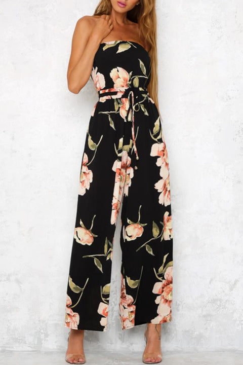 Venidress Blooming At Night Floral Jumpsuit